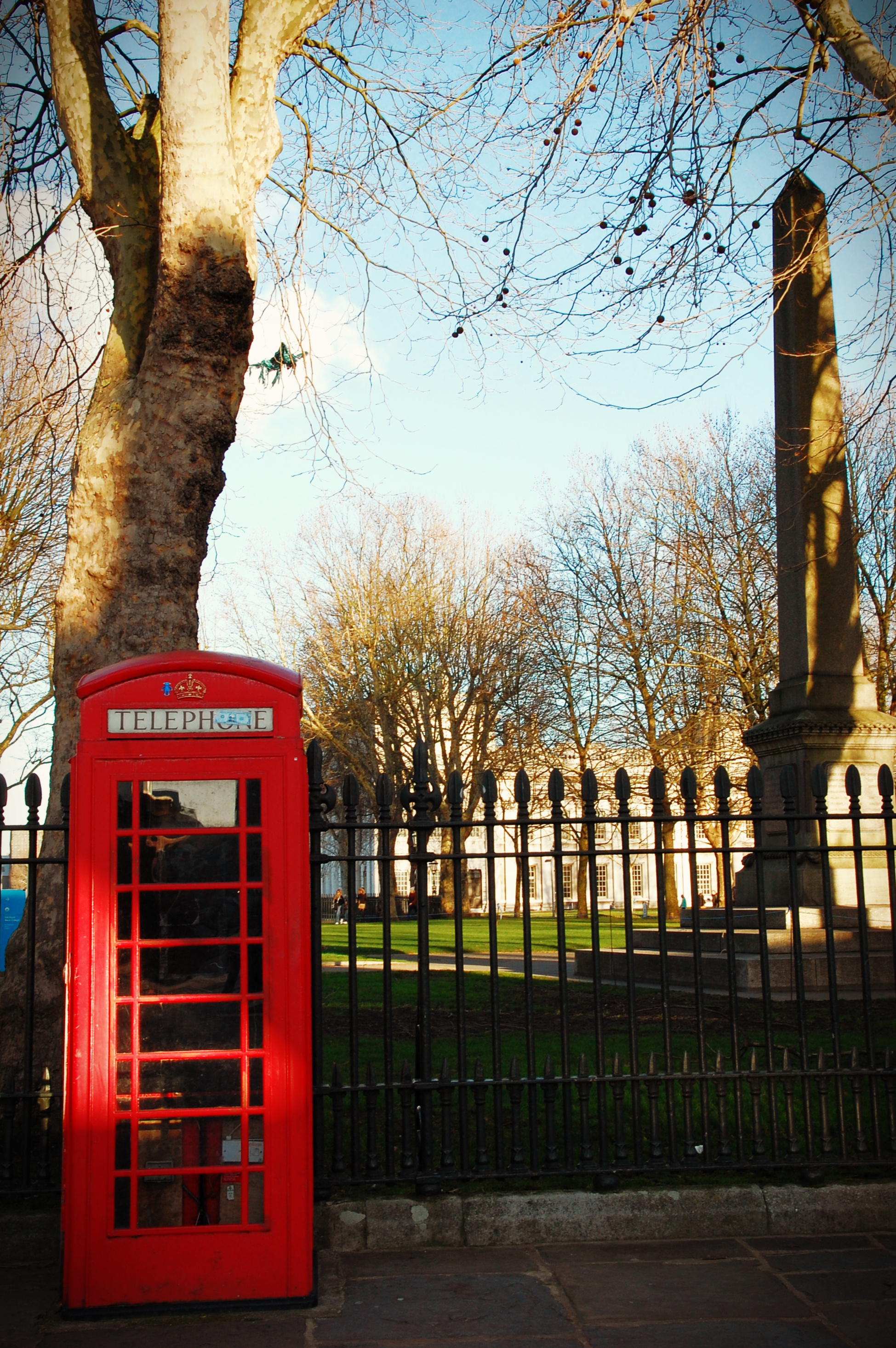 phone booth at the Old Naval College Greenwich
