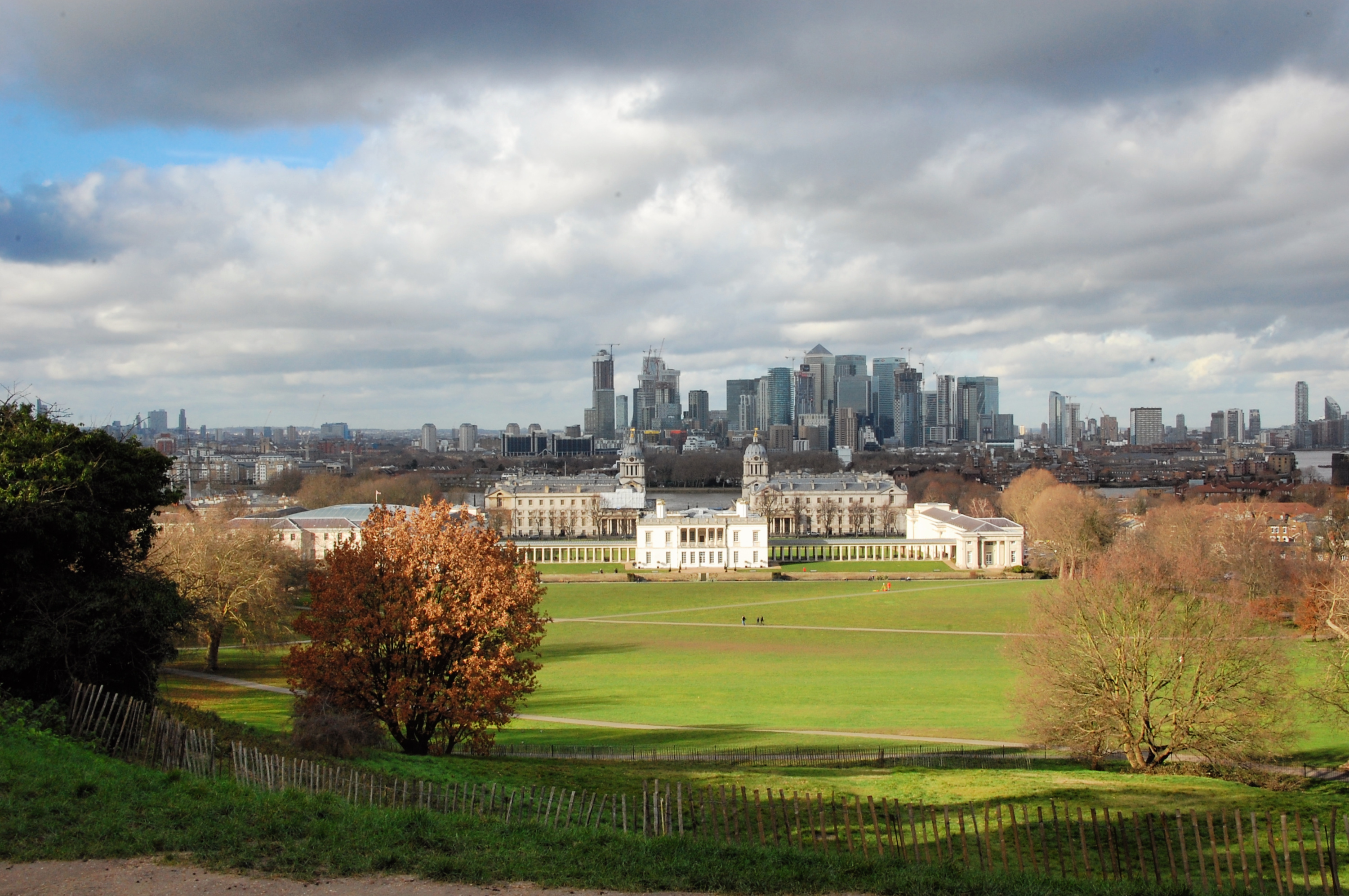 view of London from the Royal Observatory Greenwich