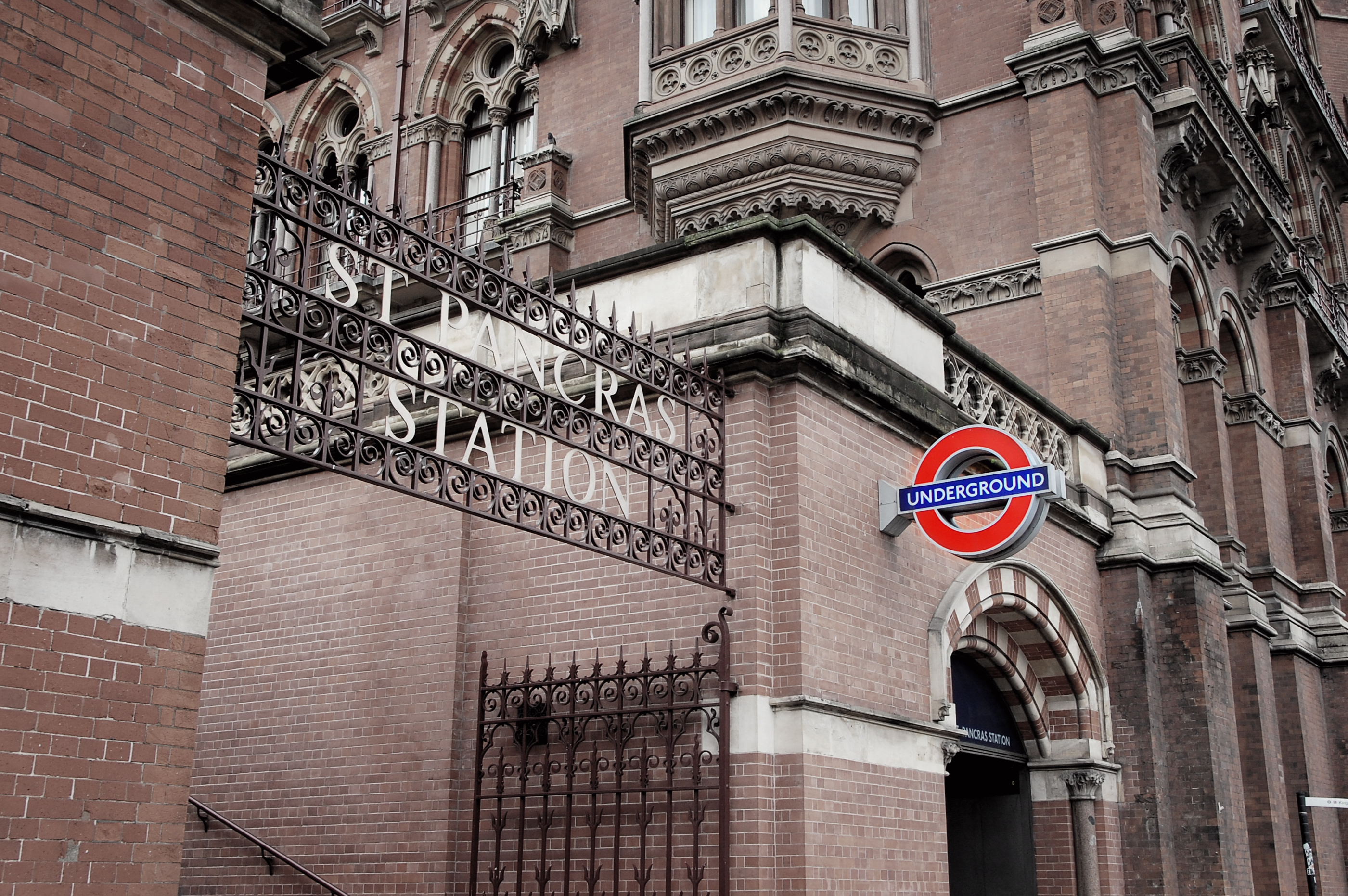 Underground sign at St Pancras Station London