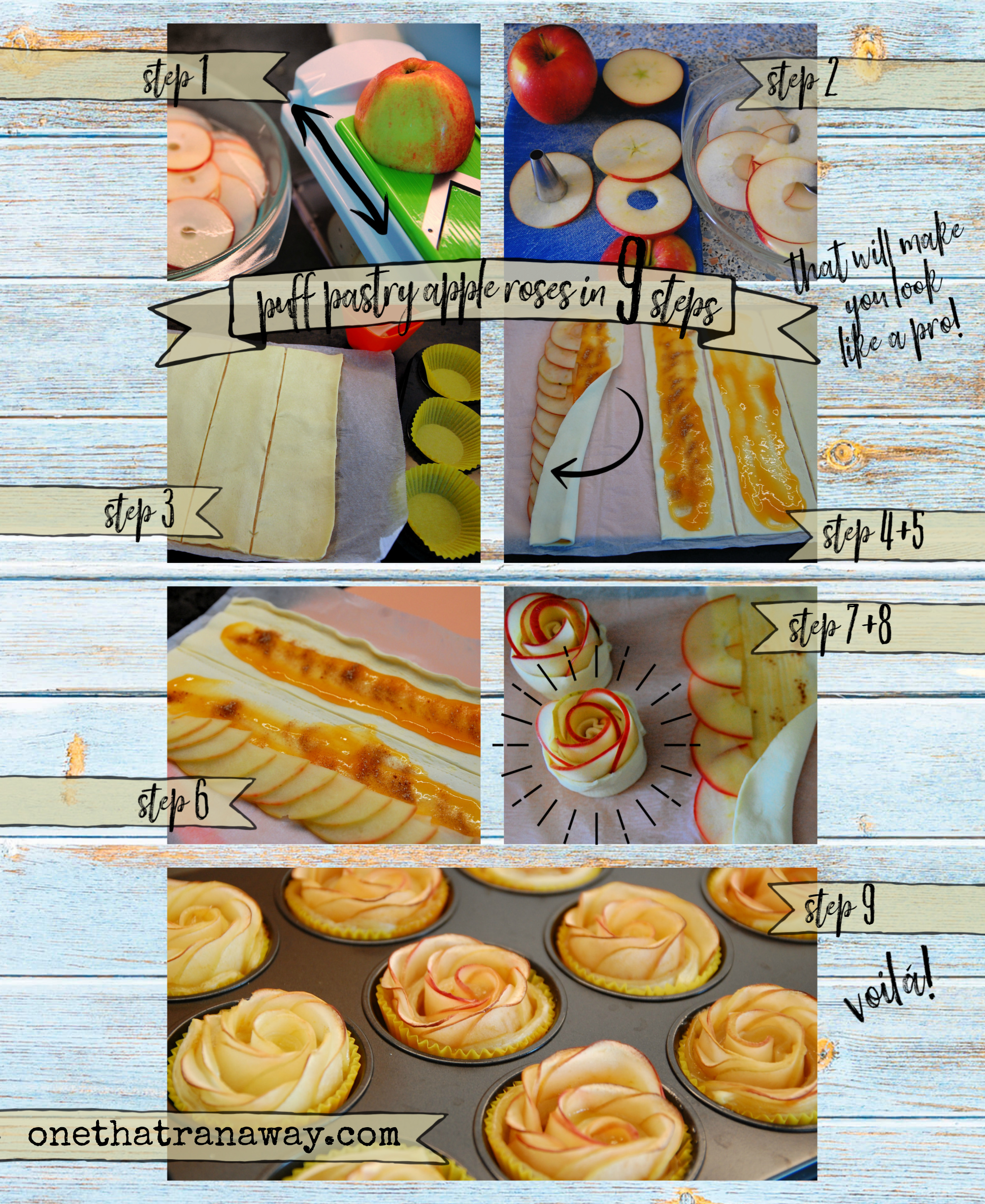 perfect puff pastry apple roses in 9 steps