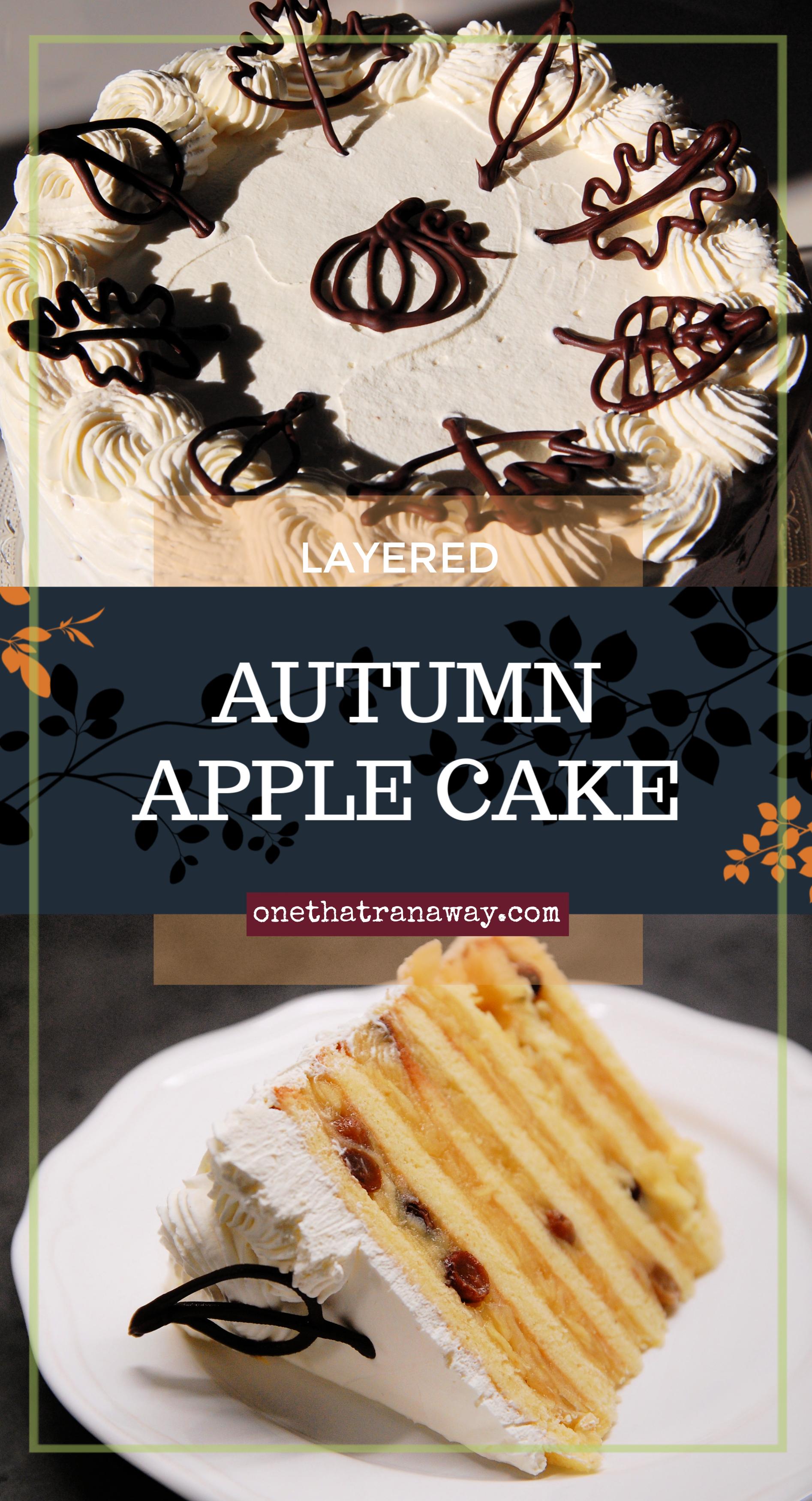 layered autumn apple cake