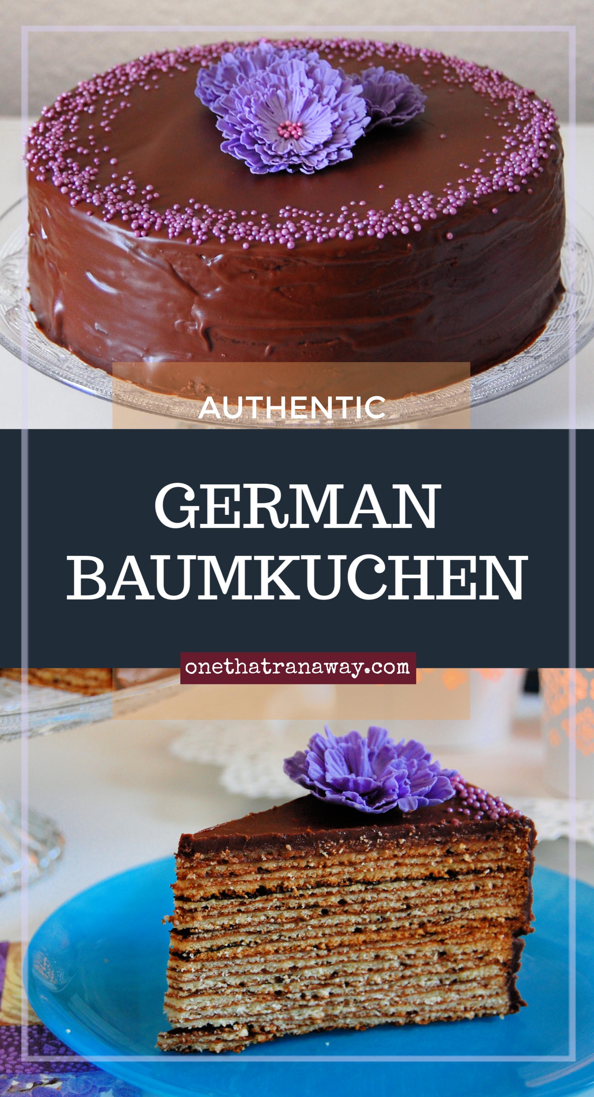authentic German Baumkuchen