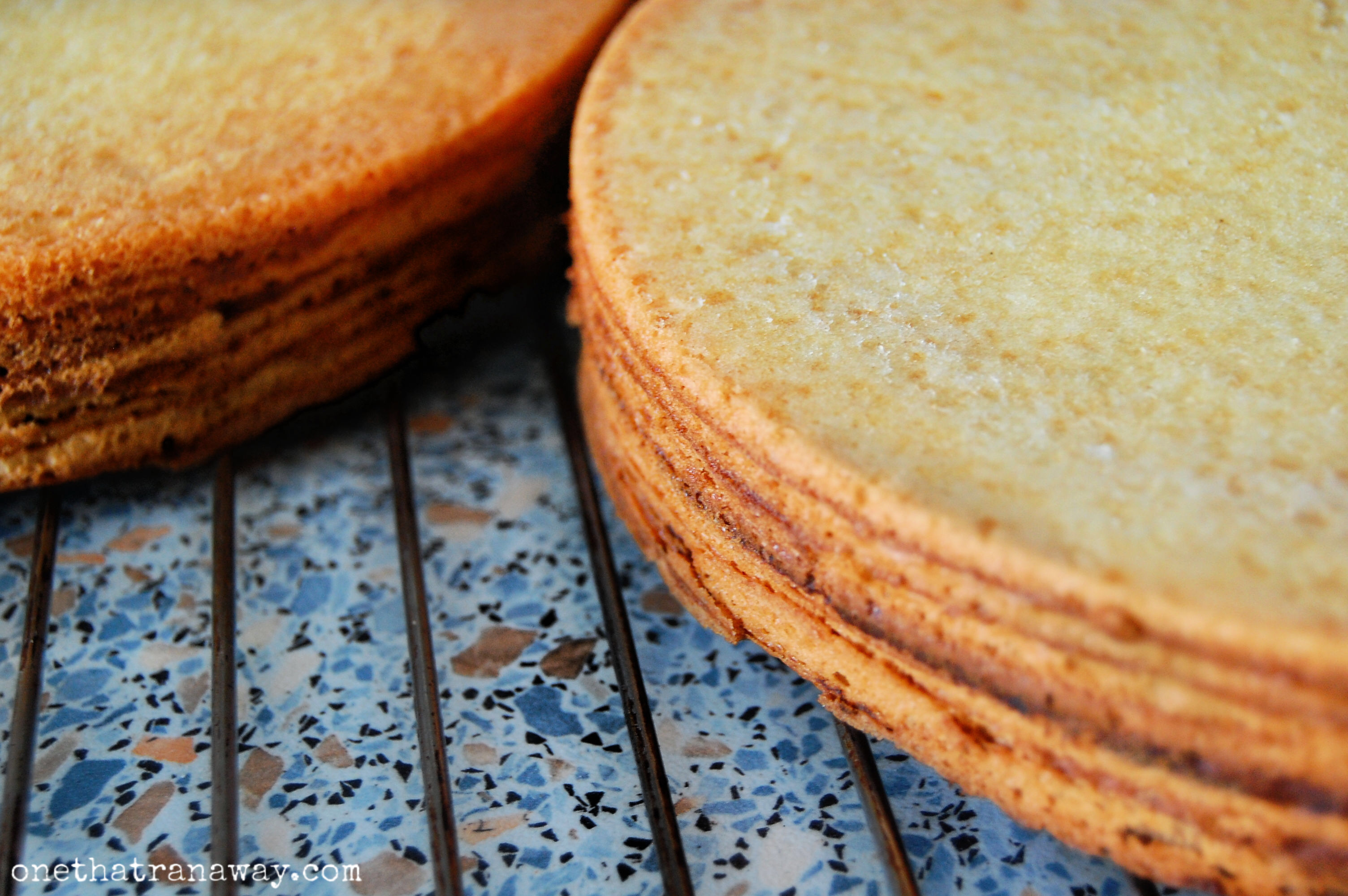 two Baumkuchen cakes without glaze